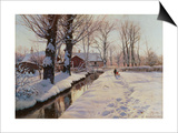 A Wooded Winter Landscape, Brondbyvester Posters by Peder Mork Monsted
