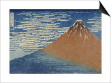 Fine Wind, Clear Weather Posters by Katsushika Hokusai