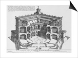 Palazzo Di Caprarola: the Garden of Rome Prints by Giovanni Battista Falda