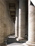 Colonnade at St. Peter's Square, Vatican City State, Rome, Italy Print by Guenter Rossenbach