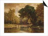 Landscape with Trout Stream, 1857 Prints by George Inness