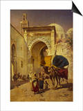 An Arab Street Scene Prints by Rudolf Gustav Muller Wiesbaden