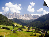 Funes Valley and the Dolomites Posters by José Fuste Raga