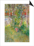 A Nap Outdoors Print by Carl Larsson