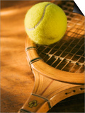 Tennis Ball and Wood Racket Prints by Tom Grill