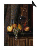 Still Life with Fruit and Claret, 1881 Print by William Michael Harnett