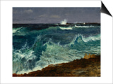 Seascape Poster by Albert Bierstadt
