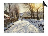 First Snow Prints by Peder Mork Monsted