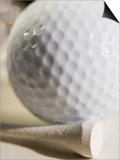Golf Ball and Golf Tee Posters by Tom Grill