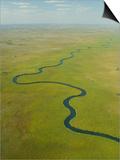 Aerial View of Okavango Delta Kunst af Michele Westmorland