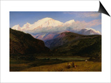 A View of Mont Blanc from Servoz, France Planscher av Henry Moore