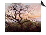 The Tree of Crows Print by Caspar David Friedrich