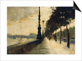 The Embankment, London Print by Lesser Ury