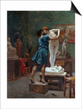 Pygmalion Et Galatee Posters by Jean Leon Gerome