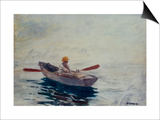 Boy in a Boat Print by Winslow Homer