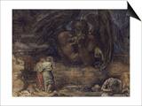 Dante and Virgil Encounter Lucifer in Hell, 1923 Prints by Henry John Stock