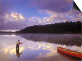 Fly-fishing at Dawn on 108 Mile Lake, British Columbia, Canada. Prints by Chris Harris