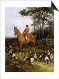 Picking up the scent Posters by Heywood Hardy
