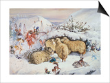Fairies in the Snow Prints by John Anster Fitzgerald
