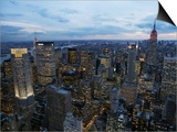 Midtown Manhattan Sparkles at Dusk Posters by David Jay Zimmerman