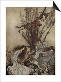 Fairies Never Say, 'We Feel Happy'; What They Say Is, 'We Feel Dancey' Prints by Arthur Rackham