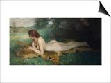 Reclining Nude; Nu Allongee Art by Emil Gustav Adolf Glockner