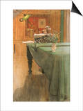 Young Girl at a Grand Piano Prints by Carl Larsson