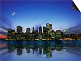 Manhattan Skyline and Reflection Art by Bill Ross
