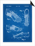 Soccer Shoes Patent Poster