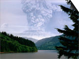 Mount St. Helens Erupting Prints by Steve Terrill