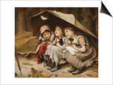 Three Little Kittens, 1883 Art by Joseph Clark