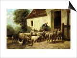 Volviendo a casa Póster por Charles Emile Jacque