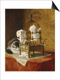 Caged Kittens Prints by Henriette Ronner-Knip