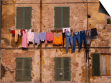 Laundry Hanging Outside Windows Posters by Steven Vidler