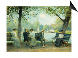 In the Public Gardens, Boston Prints by Arthur Clifton Goodwin
