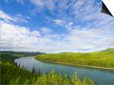 Liard River Near the Alaska Highway in Canada Print by John Eastcott & Yva Momatiuk