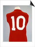 A Red England World Cup Final International Shirt, No.10, Worn by Geoff Hurst in 1966 World Cup… Posters
