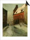 A Winter Street Scene, Montreuil Prints by Fritz Thaulow