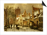 A Winter Street Scene Art by Willem Koekkoek