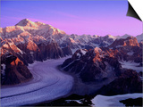 Mount McKinley and Ruth Glacier Posters by Danny Lehman