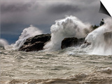 Fierce Lake Superior Waves Pound Minnesota's North Shore Print by Layne Kennedy