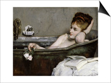 The Bath Poster by Alfred Emile Léopold Stevens