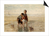 Children Playing by the Seaside Posters by Jozef Israels