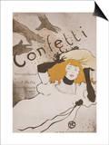 Confeti Lámina por Henri de Toulouse-Lautrec
