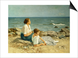 On the Beach Prints by Hermann Seeger