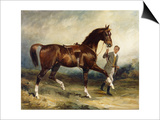 Horse and Groom in a Landscape Posters by James Lynwood Palmer