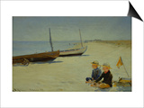 Boys on the Beach at Skagen Posters by Peder Severin Kröyer