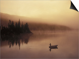 Fishing, Little Charlotte Lake, Chilcotin Region, British Columbia, Canada. Poster von Chris Harris