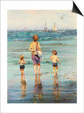 A Day at the Beach Art by LaVere Hutchings
