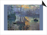 Sunrise At Sea Posters by Claude Monet